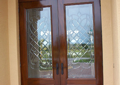 Custom Wood Door with Glass 2