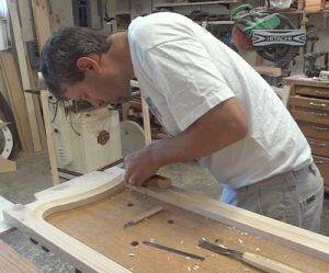 Adam Ross making wood doors